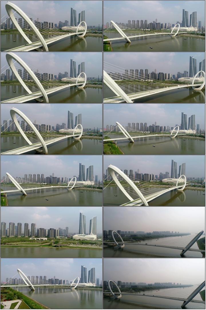 钢结构斜拉索景观桥梁工程